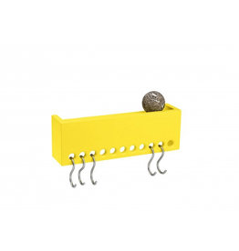 kapstok SO-HOOKED WALL RACK MINI 30-RUBBER YELLOW