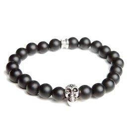 Juwelen SKULL 8MM BLACK S