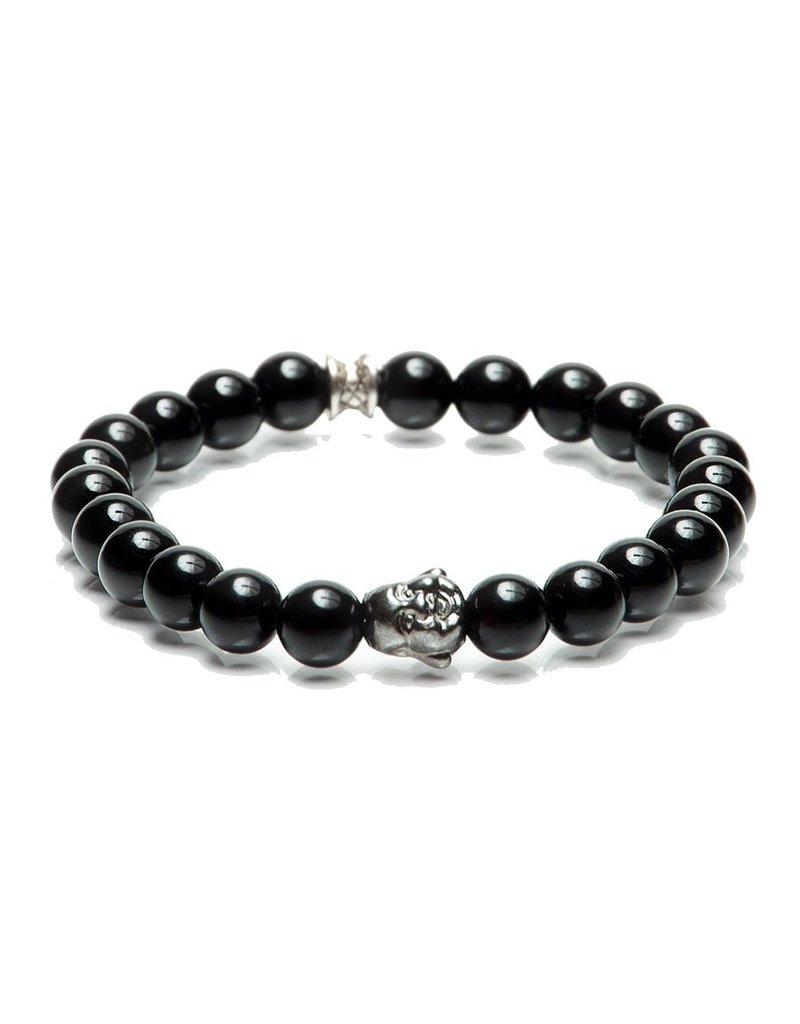 Juwelen BUDDHA 8MM BLACK S