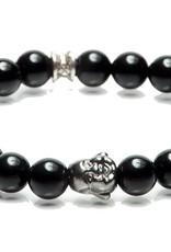 Juwelen BUDDHA 8MM BLACK M