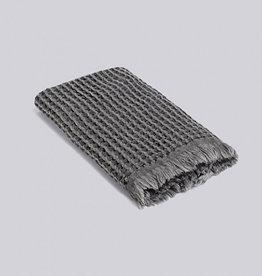 textiel HAY WAFFLE TOWEL DARK GREY