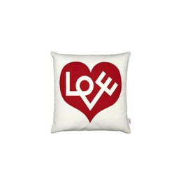 kussens GRAPHIC PRINT PILLOWS LOVE RED