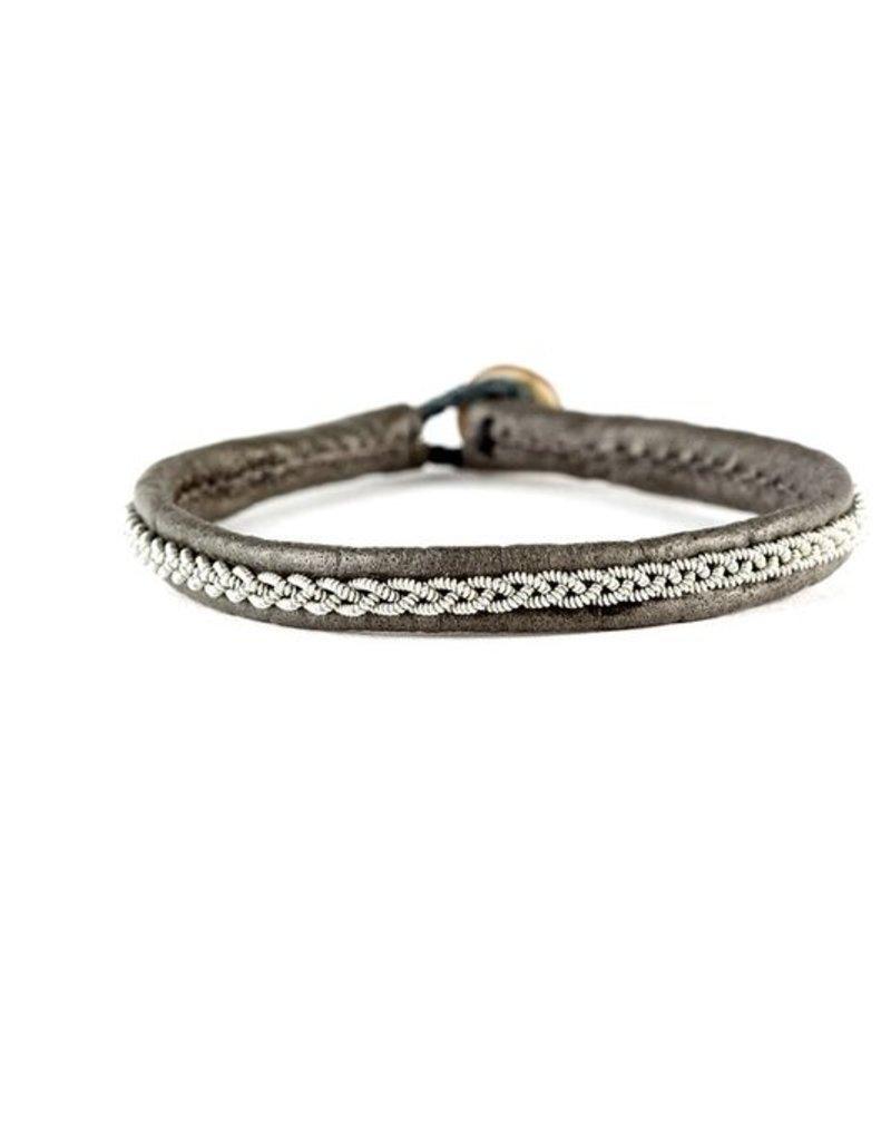 Juwelen ASTRID CROCO GREY LEATHER S19
