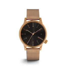 uurwerken KOMONO WINSTON ROYALE ROSE GOLD-BLACK