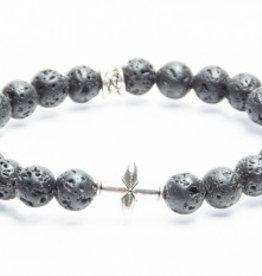 Juwelen CROSS 8MM BLACK LAVA M