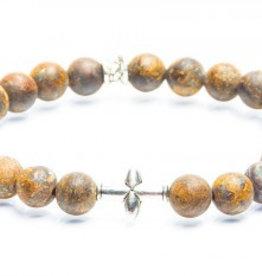 Juwelen CROSS 8MM MAT BROWN S