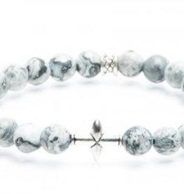 Juwelen CROSS 8MM MAT GREY M