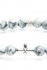 Juwelen CROSS 8MM MAT GREY S