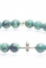 Juwelen CROSS 8MM MAT GREEN S