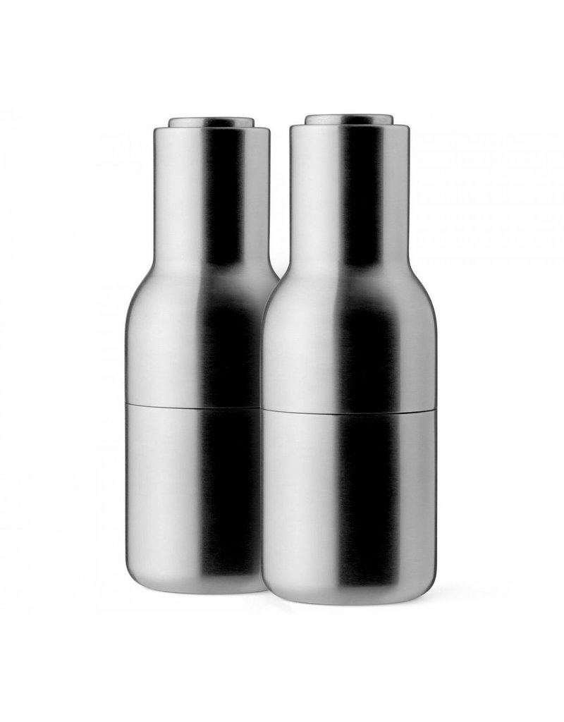 Keukengerei Bottle Grinder, Brushed Stainless Steel, 2-pack