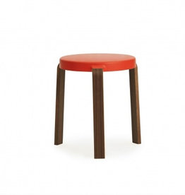 Stoelen TAP KRUK WALNUT/SPICY ORANGE