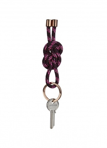accessoires CORD KEYRING BURGUNDY & COPPER