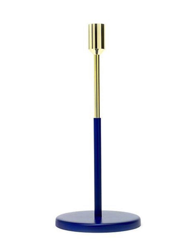 kaarshouders CANDLE HOLDER LARGE D12 H27 GOLD/BLUE