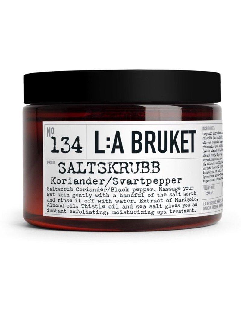 ZEPEN & CREME L:A BRUKET SALT SCRUB CORIANDER/BLACK PEPPER 350ML N°134