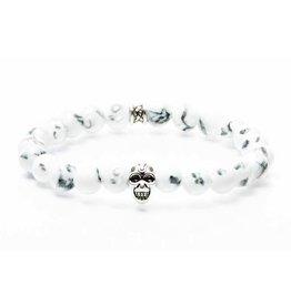 Juwelen GEMINI SKULLY 8MM WHITE SMALL
