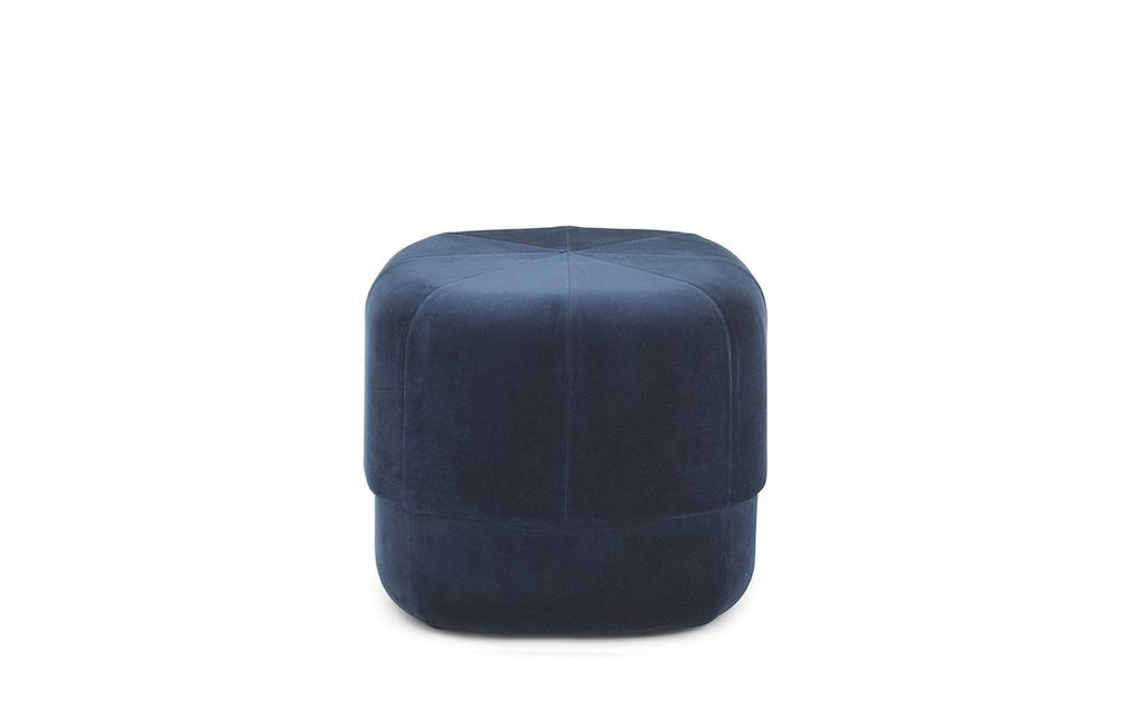 meubilair Circus Pouf Small Dark Blue Velour