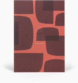 Papierwaren JO NOTEPAD WITH COVER MEDIUM, RED SHAPES