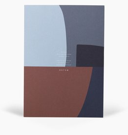 Papierwaren JO NOTEPAD WITH COVER LARGE, MIDGHT SHAPES