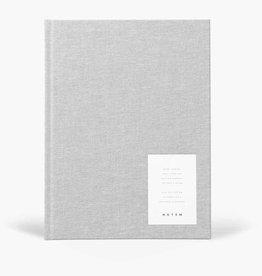 Papierwaren EVEN WORK JOURNAL LARGE, LIGHT GRAY CLOTH
