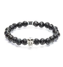 Juwelen SPECIALS 8MM SKULL BLACK METAL S