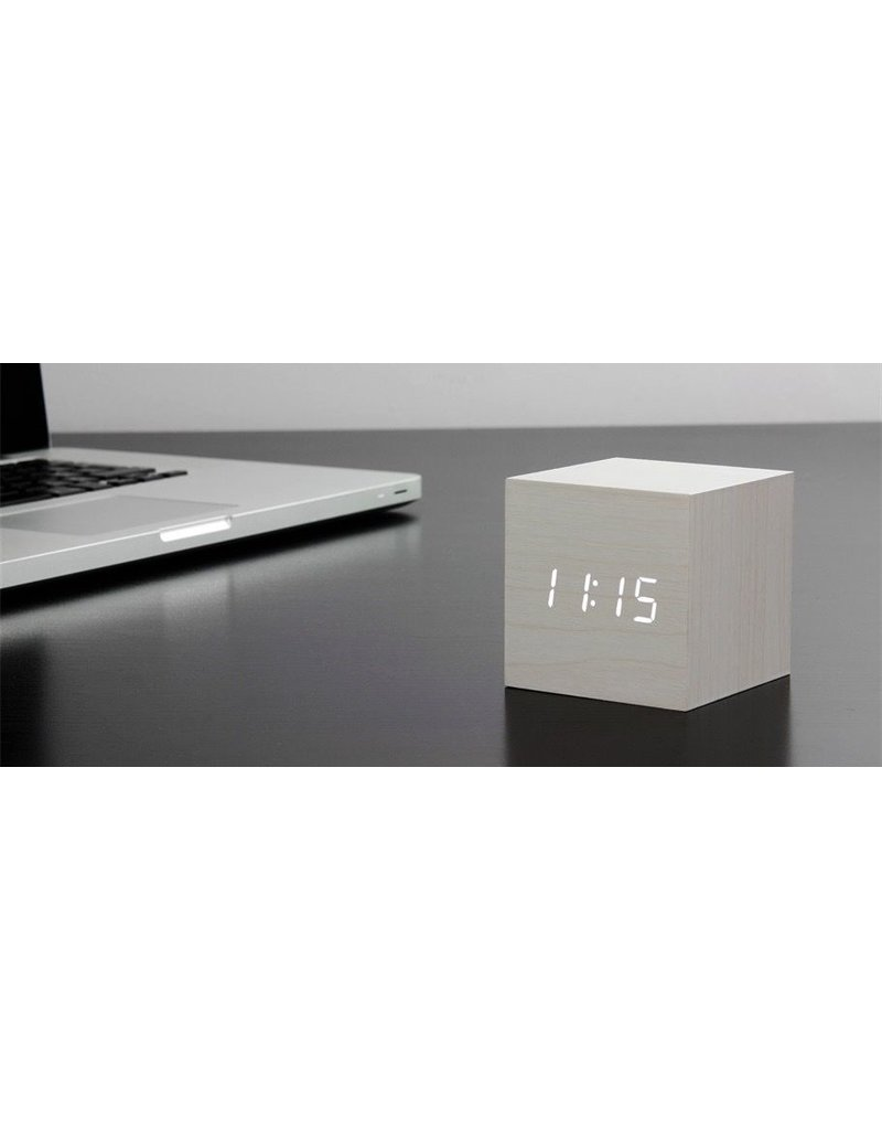 Wekkers Cube WHite Click Clock