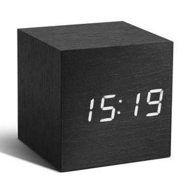 Wekkers Cube Black Click Clock