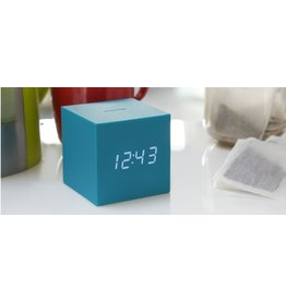 Wekkers GRAVITY CUBE CLICK CLOCK TEAL