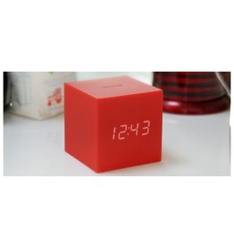 wekkers GRAVITY CUBE CLICK CLOCK RED