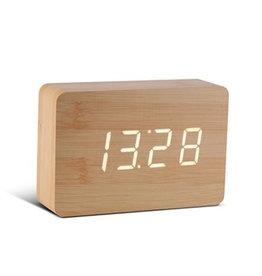 Wekkers Brick Beech Click Clock