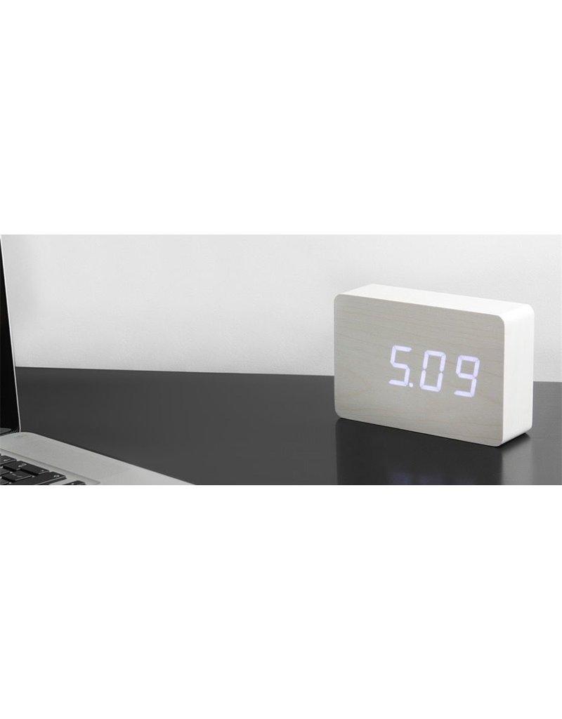Wekkers BRICK CLICK CLOCK WHITE-WHITE