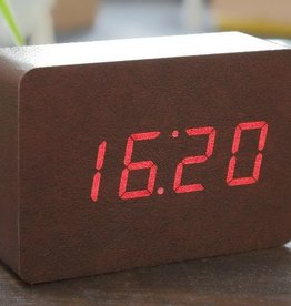 Wekkers BRICK CLOCK CLOCK COPPER-LEATHER