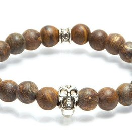 Juwelen GEMINI SKULLY 8MM MAT BROWN M