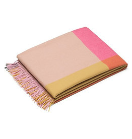 textiel COLOUR BLOCK BLANKETS PINK-BEIGE