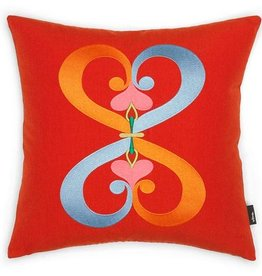kussens EMBROIDERED PILLOWS DOUBLE HEART