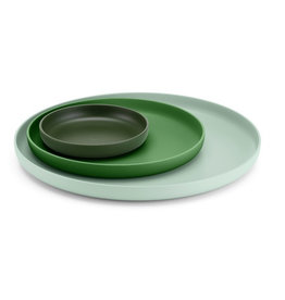 Dienbladen TRAYS SET OF 3 GREEN