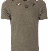 Conflict Conflict Stars T-Shirt Grey L