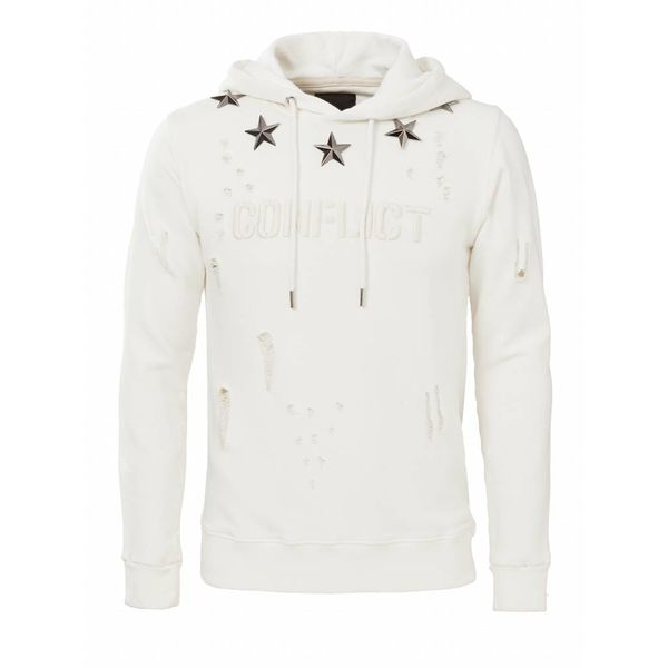Conflict Hoodie Metal Stars Off White