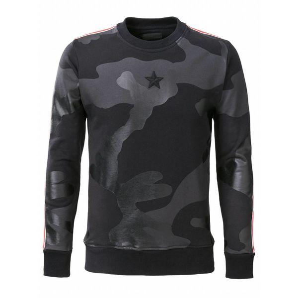 Conflict Sweater Camo Black