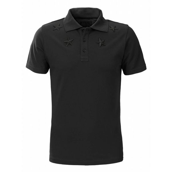 Conflict Polo Metal Stars Black