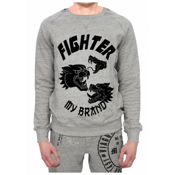 My Brand Dragons Fighters Sweater Grey