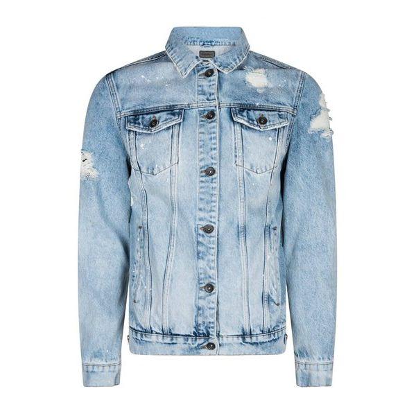 Purewhite Jeans Jacket Blue