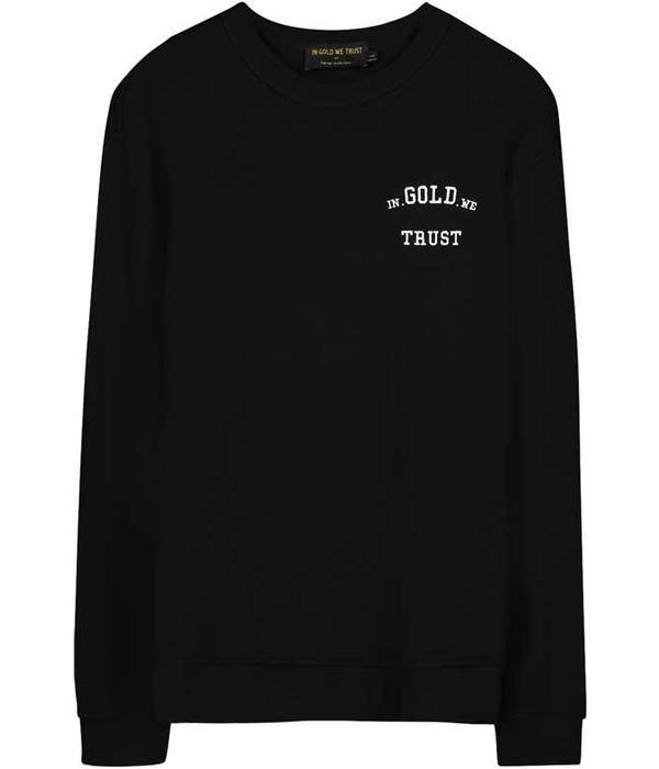 In Gold We Trust IGWT Full Embo Sweater Black