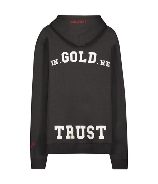 In Gold We Trust IGWT Logo Hoodie Dark Grey
