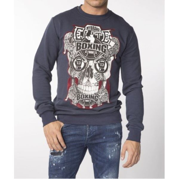 My Brand Elite Skull Sweater Navy