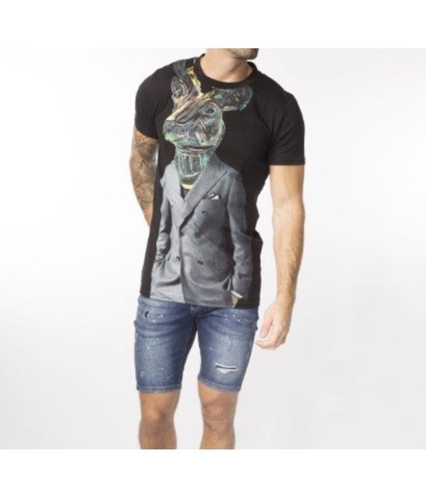 My Brand My Brand Moose Suit T-shirt Black