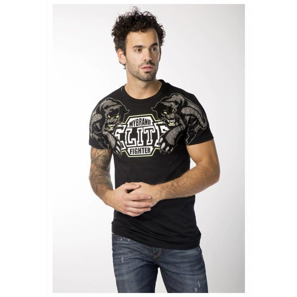 My Brand Elite Double Panther T-shirt Black