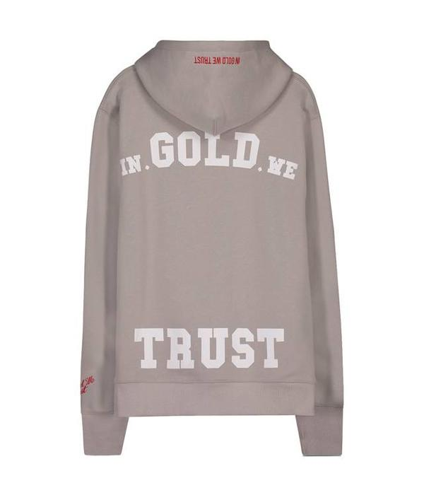 In Gold We Trust IGWT Logo Hoodie Light Grey