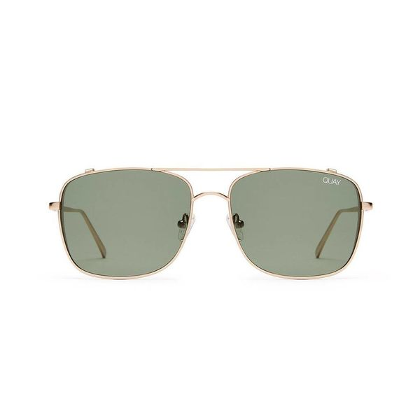 Quay The Weekend Warrior Gold/Green Sunglasses