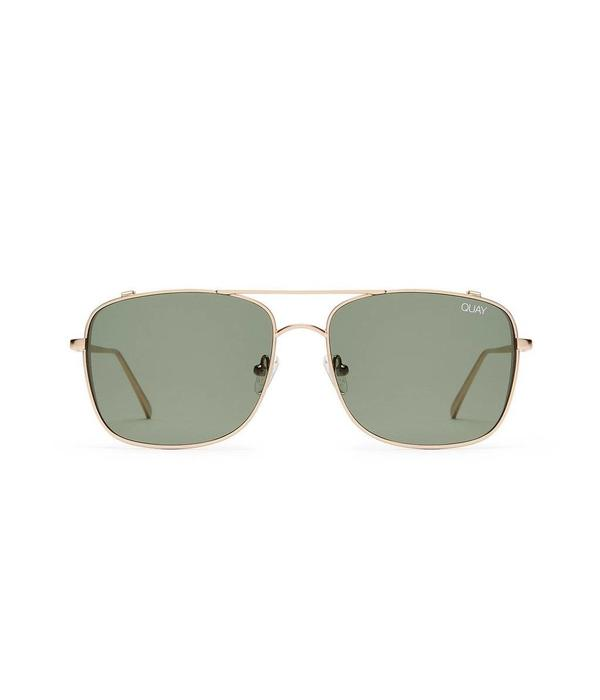 QUAY AUSTRALIA Quay The Weekend Warrior Gold/Green Sunglasses