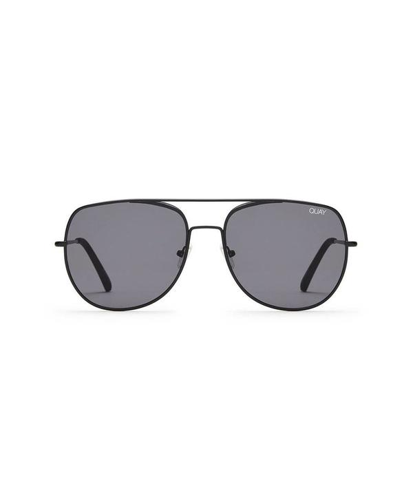 QUAY AUSTRALIA Quay Living Large Black Sunglasses